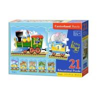 Puzzle 21 el. Edukacyjne - Train