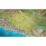 """Foundations of Rome - 36x60\\"""" Inspired Playmat by Game Toppers Including Carrying Case Przedsprzedaż Arcane Wonders"""