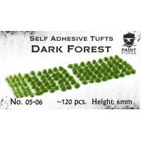 Paint Forge 05-06 Kępki trawy Dark Forest 6mm 120szt. Trawa i Posypki Paint Forge