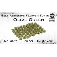 Paint Forge 02-20 Kępki kwiatów Olive Green Flowers 6 mm 50 szt.