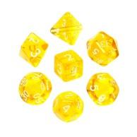 Komplet kości REBEL RPG - Mini Kryształowe - Żółte