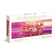 Puzzle 1000 el. Flamingo - Panorama Panorama Clementoni