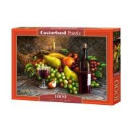 Puzzle 1000 el. Martwa Natura - wino i owoce