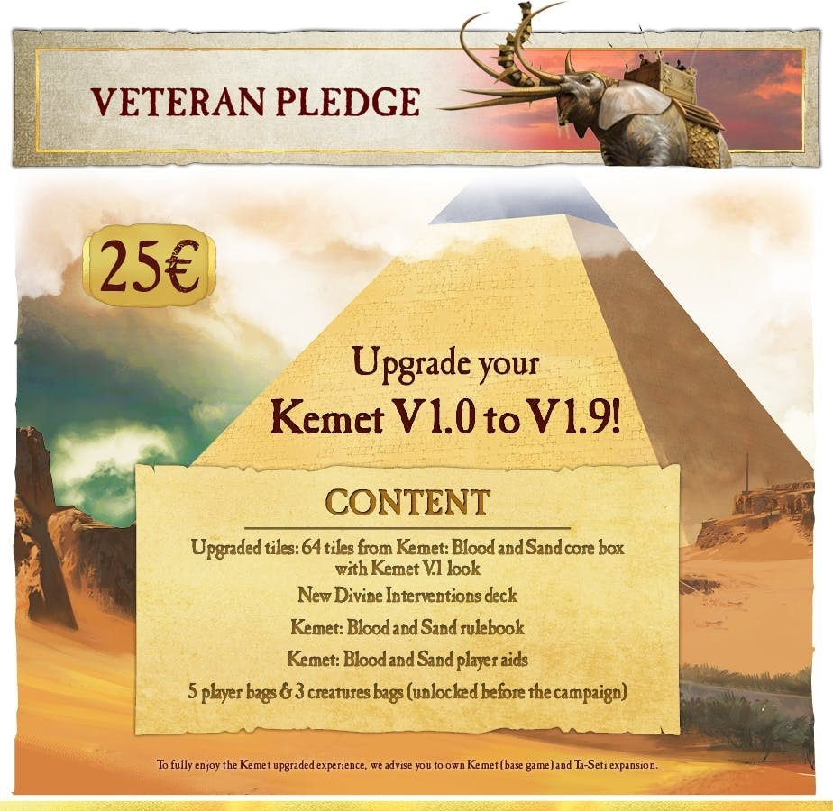Kemet Blood and Sand - Upgrade Pack Veteran Pledge (edycja Polska)