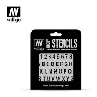 Szablon ST-LET002 Stamp Font