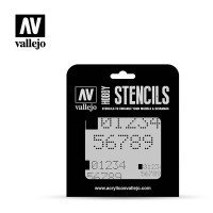 Szablon ST-SF004 Digital Numbers