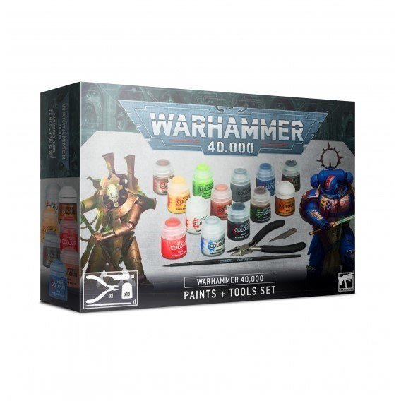 Warhammer 40,000: Paints + Tools Set Warhammer 40.000 Games Workshop