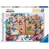 Puzzle 1000 el. Disney Pixar scrapbook