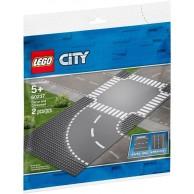 LEGO Klocki City Zakręt i skrzyżowanie 60237