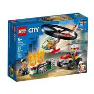 LEGO Klocki City Helikopter strażacki leci na ratunek 60248