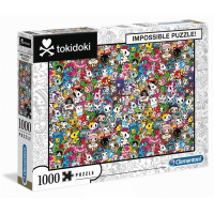 Puzzle 1000 el. Impossible Tokidoki Impossible Puzzle Clementoni