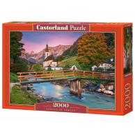 Puzzle 2000 el. Sunset in Ramsau