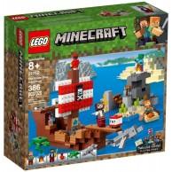 LEGO Klocki Minecraft Przygoda na statku pirackim 21152 Minecraft Lego
