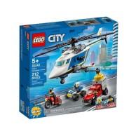 LEGO Klocki City Pościg helikopterem policyjnym 60243 City Lego
