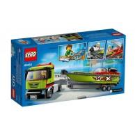 LEGO Klocki City Transporter łodzi wyścigowej 60254 City Lego