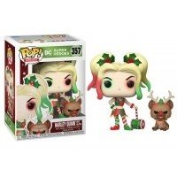 Figurka POP Heroes: DC Holiday - Harley Quinn w/Helper 357