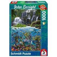 PQ Puzzle 1000 el. John Enright Wodospad Zwierzęta Schmidt Spiele