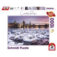 PQ Puzzle 1000 el. Christian Ringer Praskie łabędzie