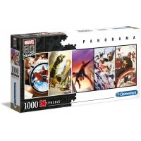 Puzzle 1000 el. panorama Marvel