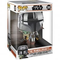"Figurka Funko POP TV: Star Wars: The Mandalorian - Mandalorian w/ Child 10\"" - 380 Funko - Star Wars Funko - POP!"