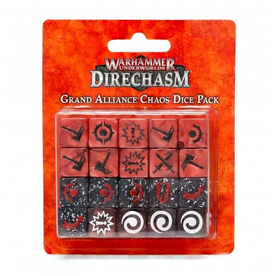 Warhammer Underworlds: Grand Alliance Chaos Dice Pack Warhammer Underworlds Games Workshop