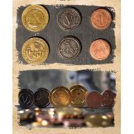 Średniowieczny zestaw monet