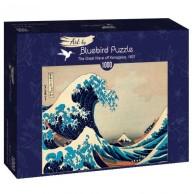 Puzzle 1000 Wielka fala, Hokusai Malarstwo bluebird puzzle