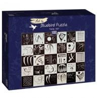 Puzzle 1000 Trzydzieści, Kandinsky Malarstwo bluebird puzzle