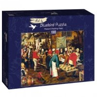 Puzzle 1000 Chłopskie wesele, Brueghel Malarstwo bluebird puzzle
