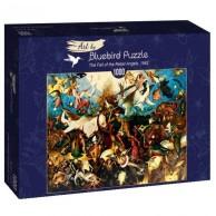 Puzzle 1000 Upadek zbuntowanych aniołów, Brueghel Malarstwo bluebird puzzle