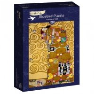 Puzzle 1000 Spełnienie, Gustav Klimt Malarstwo bluebird puzzle