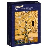 Puzzle 1000 Drzewo życia, Gustav Klimt Malarstwo bluebird puzzle