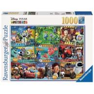 Puzzle 1000 el. Filmy Disney Pixar Dla dzieci Ravensburger