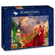 Puzzle 1500 Piękność w czerwonej sukni Fantasy bluebird puzzle