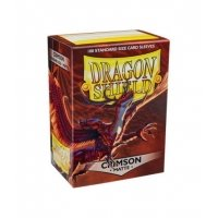 Dragon Shield Standard Sleeves - Matte Crimson (100 Sleeves) Do gier karcianych Arcane Tinmen