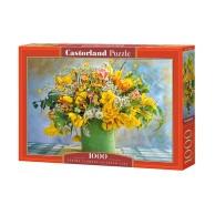 Puzzle 1000 el. Spring Flowers in Green Vase Martwa Natura Castorland