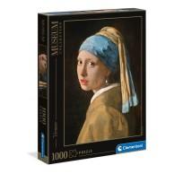 Puzzle 1000 el. Vermeer Dziewczyna z perłą - Museum Collection Malarstwo Clementoni