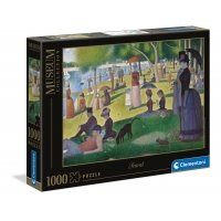 Puzzle 1000 el. Seurat - A Sunday Afternoon on the Island of La Grande Jatte - Museum Collection Malarstwo Clementoni