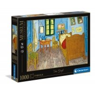 Puzzle 1000 el. Van Gogh - Bedroom in Arles - Museum Collection Malarstwo Clementoni
