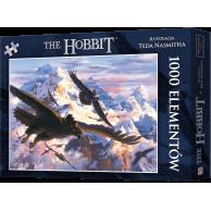 Puzzle Hobbit: Bilbo i orły (1000 elementów) Fantasy Rebel